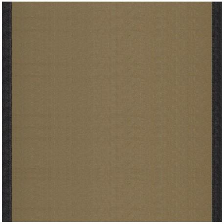 tissu toile transat uni taupe bord noir 43cm x 10cm ma. Black Bedroom Furniture Sets. Home Design Ideas