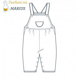 Marius Overalls L'Enfant Roi sewing pattern - From 2 to 12 years old