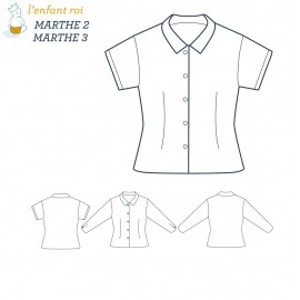 Marthe Blouse L'Enfant Roi sewing pattern - From 2 to 12 years old