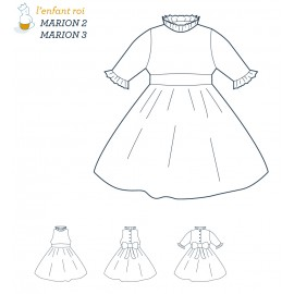 Marion Dress L'Enfant Roi sewing pattern - From 2 to 12 years old
