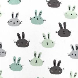 Tissu Jersey Little rabbit - blanc x 19cm