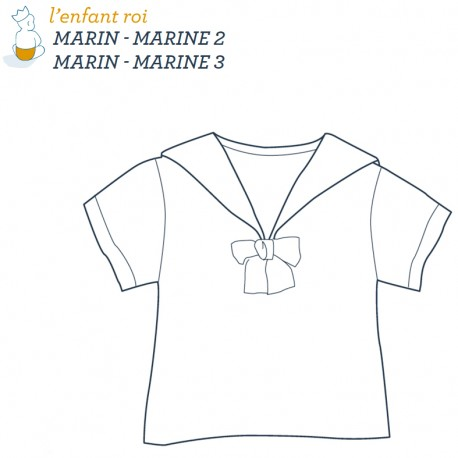 Marine Shirt L'Enfant Roi sewing pattern - From 2 to 12 years old