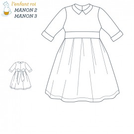 Manon Dress L'Enfant Roi sewing pattern - From 2 to 12 years old