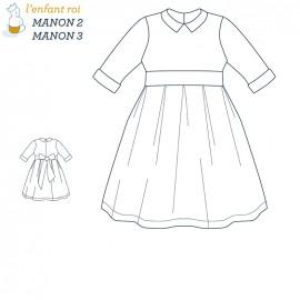 Patron l'Enfant Roi Robe Manon - de 2 ans à 12 ans