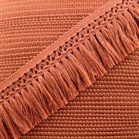 Ruban galon franges dentelle au crochet 65mm - rouille x 1m