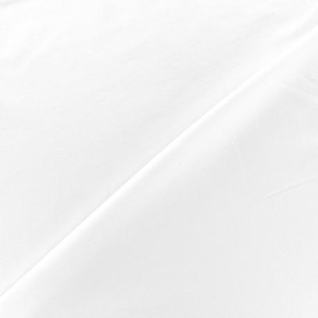 Tissu jersey Bambou - blanc x 10cm