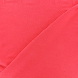 Tissu jersey Bambou - rouge corail x 10cm