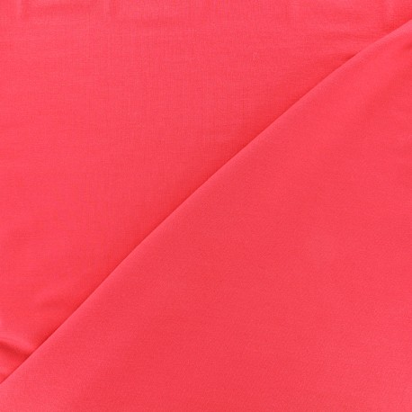 Jersey Bamboo Fabric - red coral x 10cm