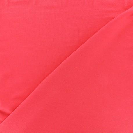 Tissu jersey Bambou - rouge corail x 10cm