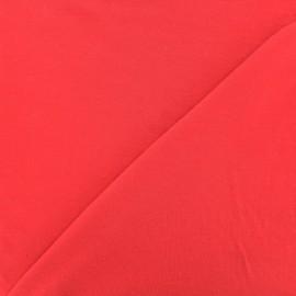 Tissu jersey Bambou - rouge x 10cm