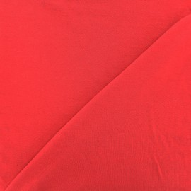 Jersey Bamboo Fabric - red carmine x 10cm