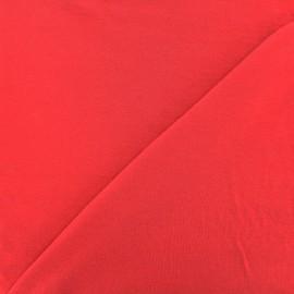 Tissu jersey Bambou - rouge carmin x 10cm