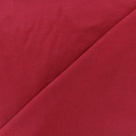 Tissu jersey Bambou - rouge bordeaux x 10cm