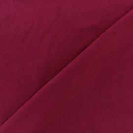 Tissu jersey Bambou - lie de vin x 10cm