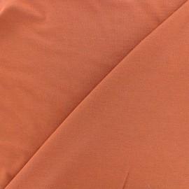 Tissu jersey Bambou - terracotta x 10cm