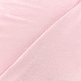 Tissu jersey Bambou - rose pâle x 10cm