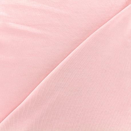 Tissu jersey Bambou - rose x 10cm
