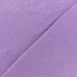 Tissu jersey Bambou - parme x 10cm