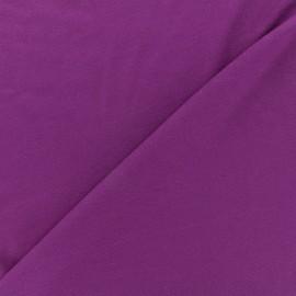 Tissu jersey Bambou - violine foncé x 10cm