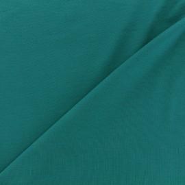 Tissu jersey Bambou - paon x 10cm