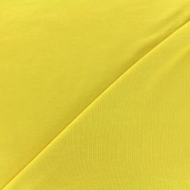 Tissu jersey Bambou - jaune clair x 10cm