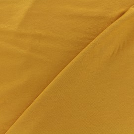 Oeko-tex jersey Bamboo Fabric - ochre x 10cm