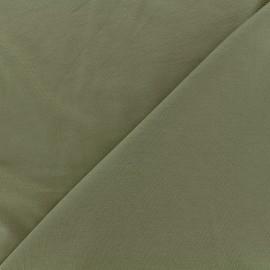 Tissu jersey Bambou - militaire x 10cm