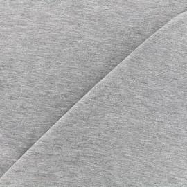 Tissu jersey Bambou - gris chiné x 10cm