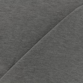 Oeko-tex jersey Bamboo Fabric - mocked dark grey x 10cm