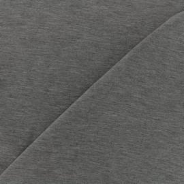 Tissu jersey Bambou - gris foncé chiné x 10cm