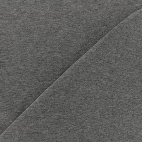Jersey Bamboo Fabric - mocked dark grey x 10cm