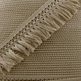 Ruban galon franges dentelle au crochet 65mm - lin x 1m