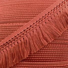 Ruban galon franges dentelle au crochet 65mm - tomate x 1m