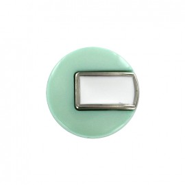 Bouton polyester Sixties - jade/argent