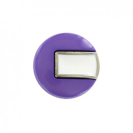 Bouton polyester Sixties - violet/argent