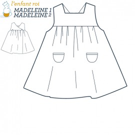 Madeleine dress L'Enfant Roi sewing pattern - From  3 months to 6 years old