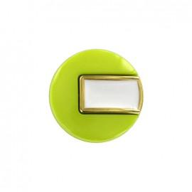 Bouton polyester Sixties - vert/doré
