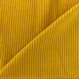 Thick ribbed velvet fabric - mustard x 10cm
