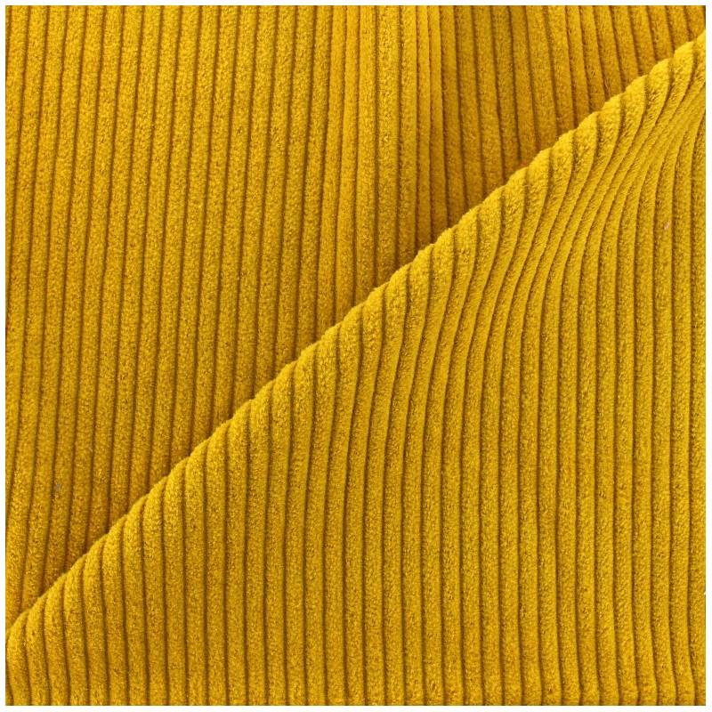 Thick Ribbed Velvet Fabric Mustard X 10cm Ma Petite