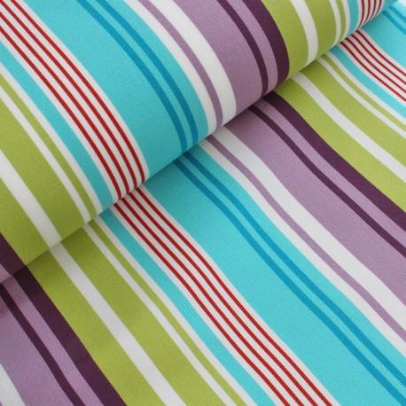 Deckchair canvas fabric La Rochelle (43cm) - turquoise x 10cm