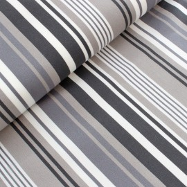 Deckchair canvas fabric La Rochelle (43cm) - grey x 10cm