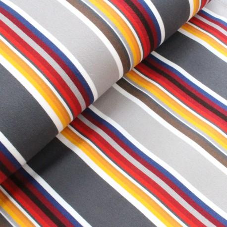 Deckchair canvas fabric Estoril (43cm) - grey x 10cm