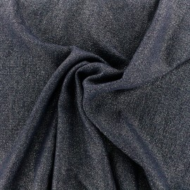 Iridescent embossed crepe fabric - night blue/gold x 10cm