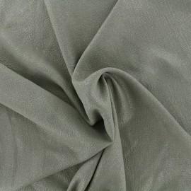 Iridescent embossed crepe fabric - khaki/silver x 10cm