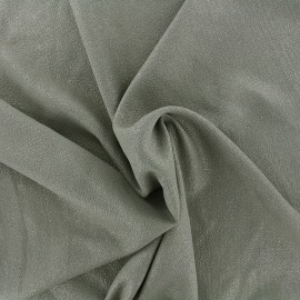 Tissu crêpe gaufré irisé - kaki/argent x 10cm