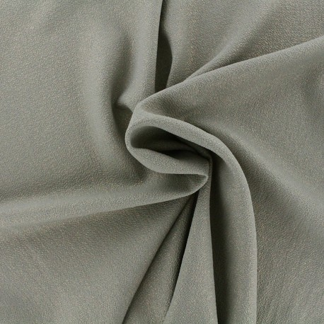 Iridescent embossed crepe fabric - khaki/gold x 10cm