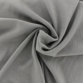 Iridescent embossed crepe fabric - grey/silver x 10cm