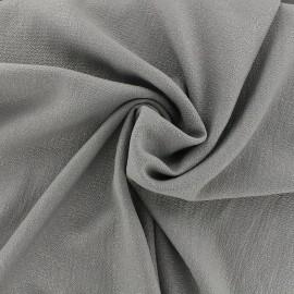 Tissu crêpe gaufré irisé - gris/argent x 10cm