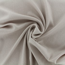 Iridescent embossed crepe fabric - light beige/silver x 10cm