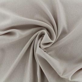 Tissu crêpe gaufré irisé - beige clair/argent x 10cm